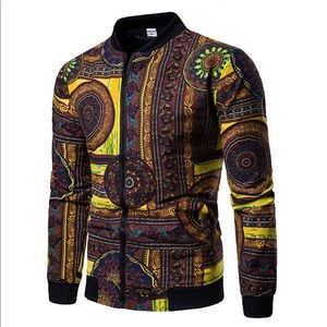 NEW Brown Multicolor Bomber Jacket